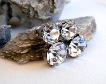 Double Crystal Earrings - Vintage