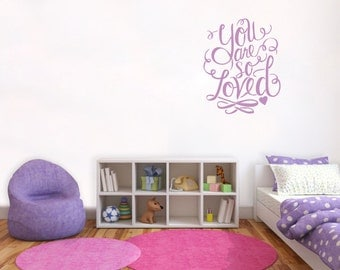 You Are So Loved Harry Potter Wall Decal Quote