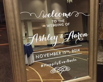 Wedding Welcome Sign Vinyl Cut Decal
