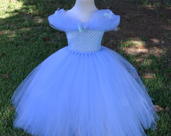 2015 Cinderella Inspired Princess Tutu Dress Costume for Weddings, Pageants, Photos, Birthdays, Parties