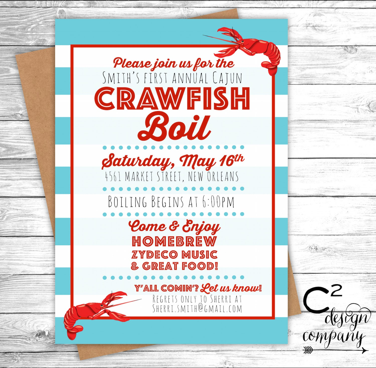 This is a graphic of Comprehensive Crawfish Boil Invitations Free Printable