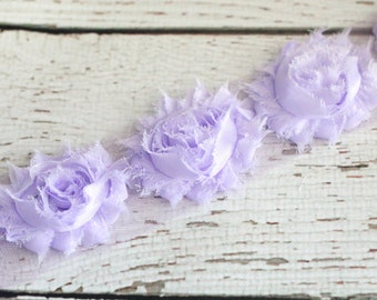 Shabby flowers LILAC - set of 7