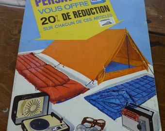Batch of two Cardboard advertising posters for PERSAVON vintage 1960 1970, Advertising on the old place