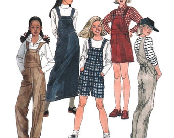 McCall's Sewing Pattern 2322 Girls' Overalls and Jumper in two lengths   Size:  CS  12-14-16  Used