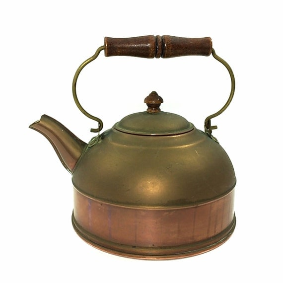 Vintage Copper Teapot 92