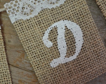 SMALL Customizable Burlap Wedding Banner, Burlap Banner, Wedding Banner, Photoprop