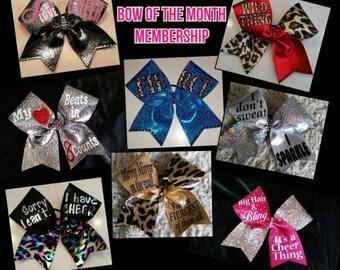 1 Year Cheer Candi Bow of Month Membership C.C.B.O.M.M