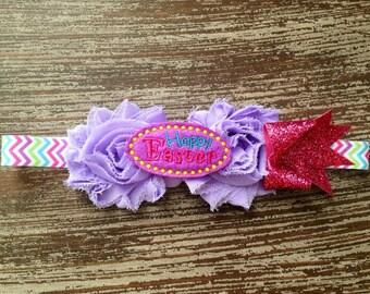 Easter Headband - Hoppy Easter - Bunny Hair Bow - Easter Bunny Hair Bow - Baby Hair Clip - Bunny Headband - Felt Hair Clip - Easter Headband