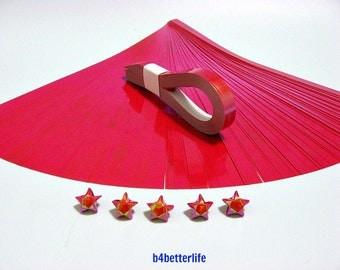 200 Strips Red Color Mini Size Lucky Stars Origami Paper Kits. 24.5cm x 1.0cm. (AV paper series). #SPK-123.