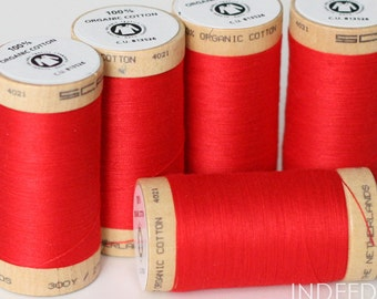 Ruby Red, Scanfil Organic Cotton Thread, 300 Yards, Color #4805