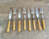 antique english  cutlery  , cutlery vintage , home decor for kitchen, old fork old knife