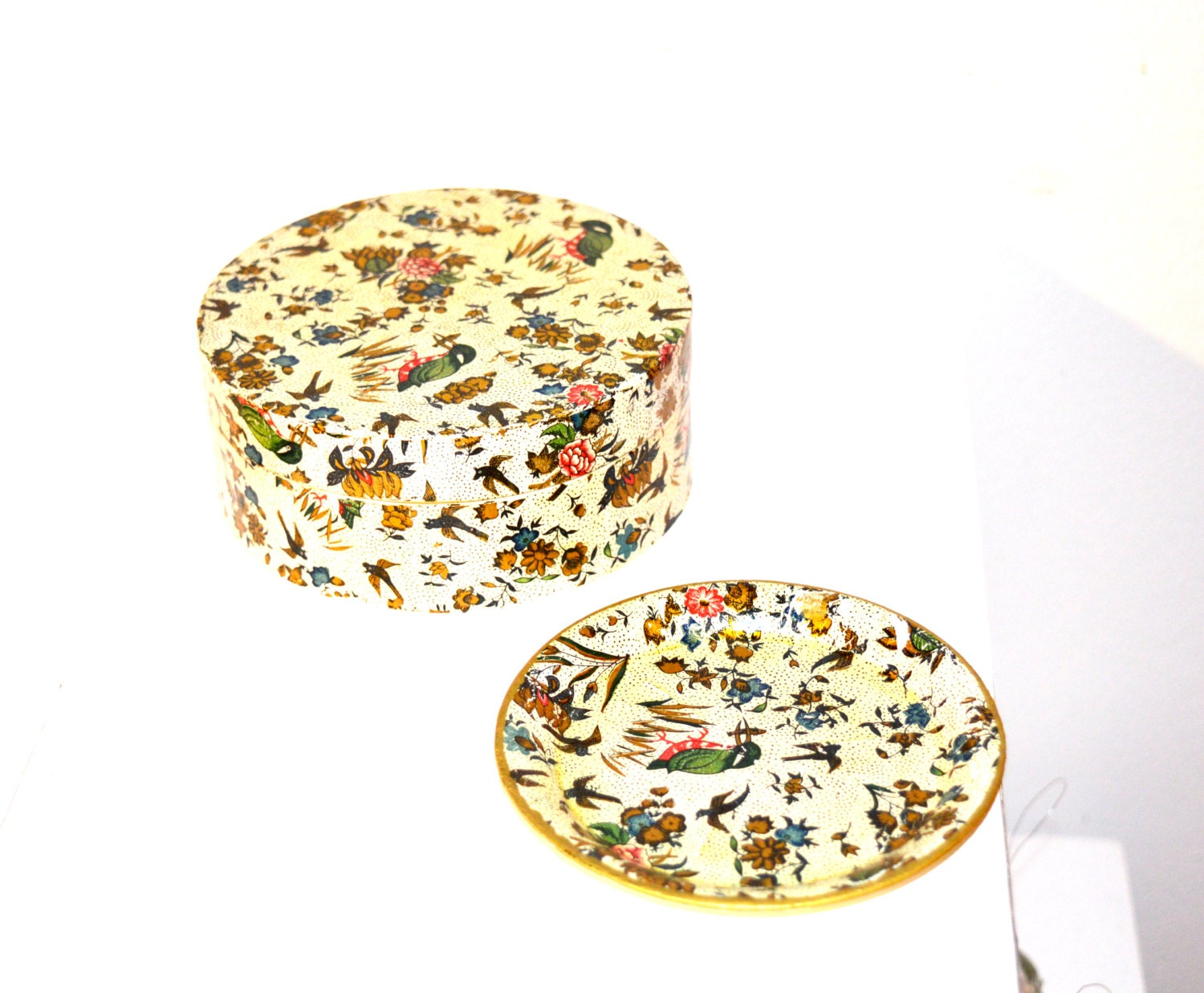 Vintage Floral Drink Coaster Set Vintage Set Of 6 European