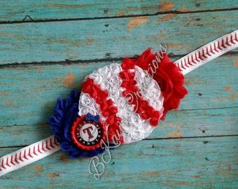 Texas Rangers Baseball Shabby Headband