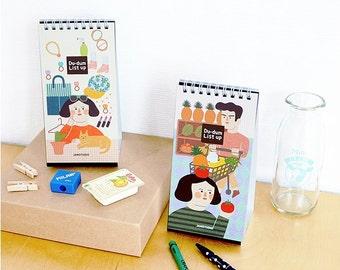 Standing To Do List Notebook / Shopping List Notebook / Illustration Handy Check List / 101105985