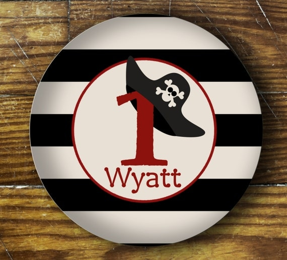 Personalized Dinner Plate or Bowl - Aged Pirate