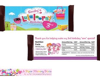 LaLaLoopsy Candy Wrapper - DIY Printable