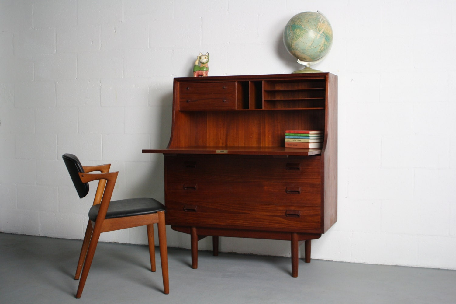 SALE 1960 s Danish Modern Teak Secretary Desk by ABTModern