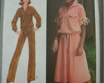 "Misses Pullover Top, Skirt and Pants Size 14 Bust 36"") VINTAGE Simplicity Pattern 8521 UNCUT Dated 1977 MINT condition."