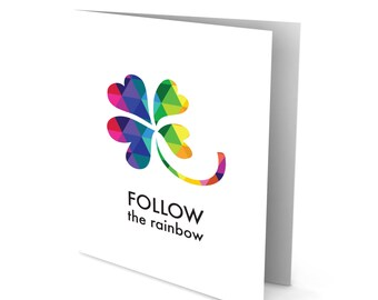 Follow the Rainbow Greeting Card - St Pattys Day