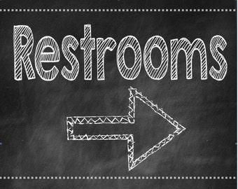 Chalkboard Restroom Sign