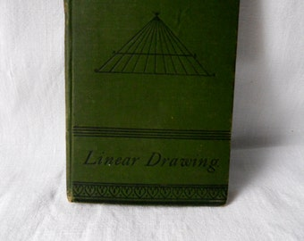 FINAL SALE Rare, First Edition, 1900, Linear Drawing by Ellis A. Davidson, Cassell Petter & Galpin, Technical Education