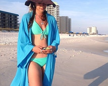 Kimono Beach cover up, Kimono Style, swimsuite coverup, gauze cotton coverup, resort wear, must have for any beach vacation
