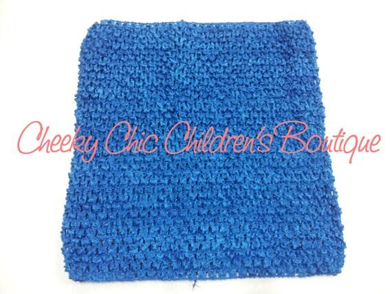 9x8 inch ROYAL BLUE Crochet Tutu Dress Tube Top [CB9RB]