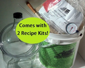 Double Hop Hero 1 Gallon Home Beer Making Kit with 2 Recipes!, Fresh Recipe, Made to Order, Birthday Gift, Christmas Gift