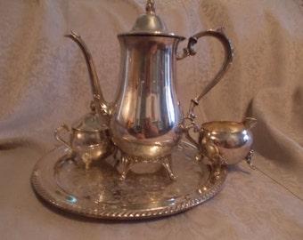 Vintage Silver Serving Set  (*762)