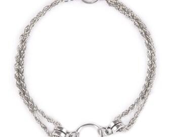 Armband Armkettchen Chain Bracelet Fetisch SM Gothic Ring der O. Kette Fetisch O-Ring BDSM Sklave Fetish Meister Sub Dom 50019