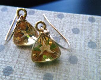 Citrine jewelry 14k gold fill citrine earrings Citrine gold jewelry Gold fill earrings Gemstone earrings November birthstone Chakra jewelry
