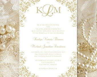 champagne wedding invitations kaitlyn printable template make your own invitations all colors av instant - Champagne Wedding Invitations