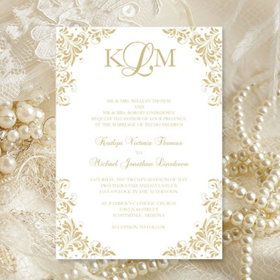 When Do You Send Out Wedding Invitations: Champagne Wedding Invitations Kaitlyn Printable
