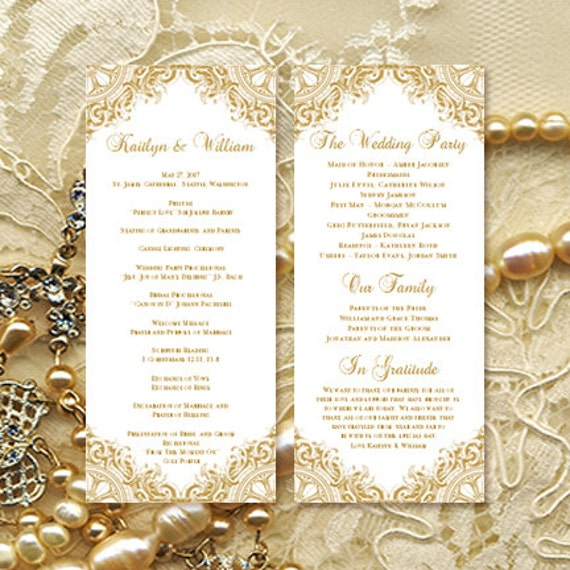 wedding programs outline