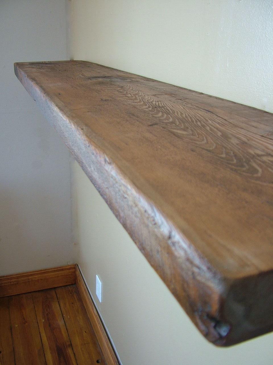 Reclaimed Barn wood Floating shelf 40 x 10 x by ...