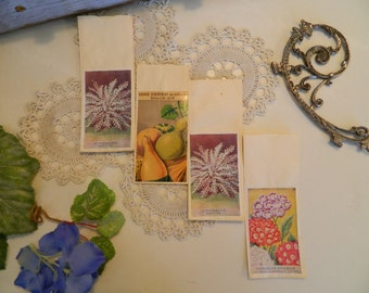 Antique French Flower Seed Packets