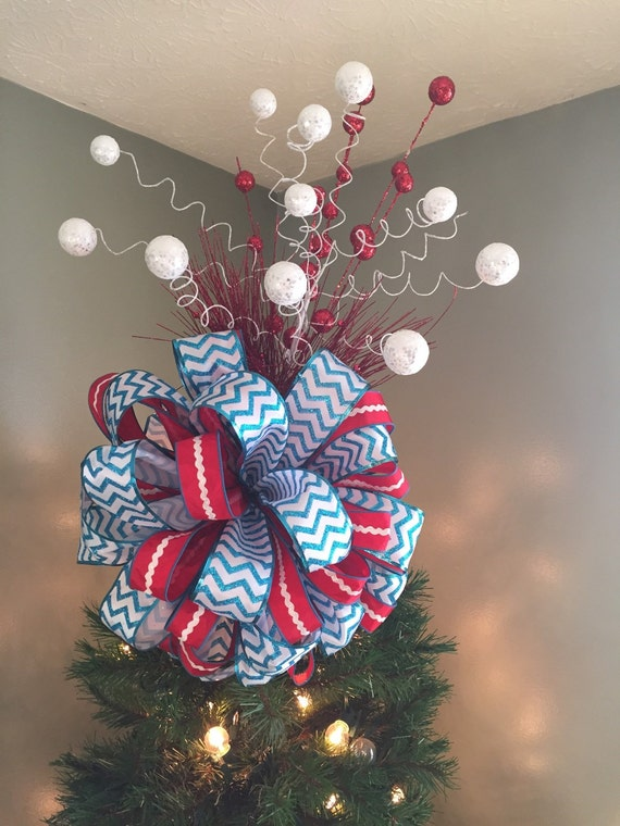 Red White And Blue Christmas Tree Toppers For Your