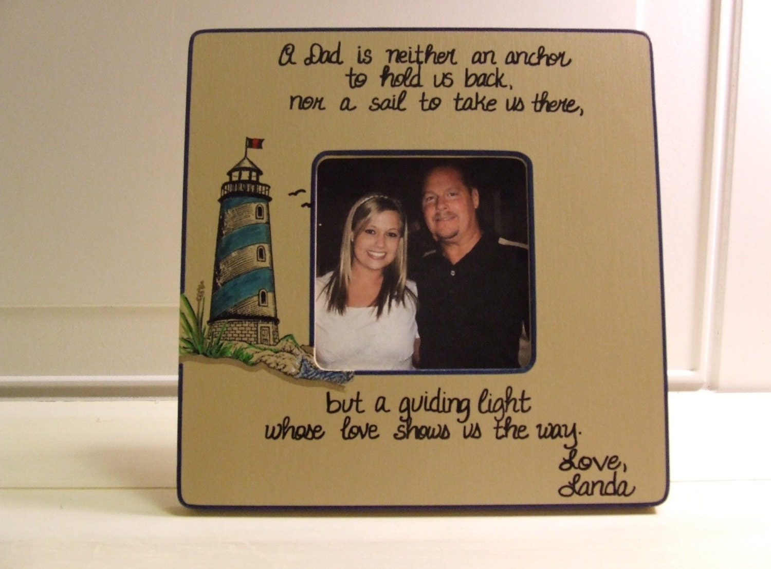 Father of the Bride Frame Picture frame for Dad Wedding Gift
