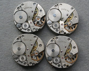 "1"" , Set of 100  Vintage Soviet Watch movements , steampunk parts"