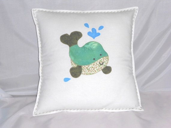 Handmade cushion applique cushion decorative pillow white