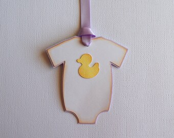 Baby Onesie Gift Tags - Favor / Gift / Wish Tags - Baby Shower - set of 10