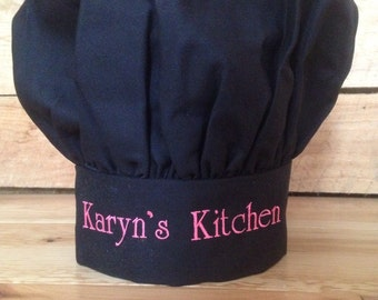 Personalized Chef's Hat in Black