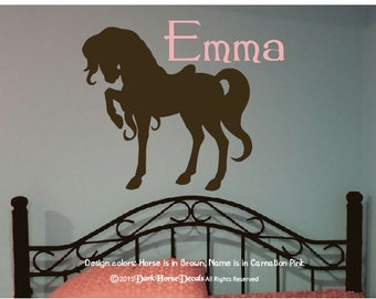 Fancy Prancy Pony Personalized Girl's Room Wall Decal