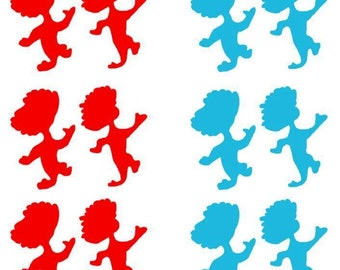 Thing 1 & 2 Balloon or Party Decals