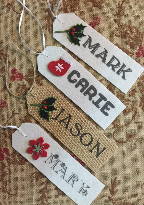 christmas stocking name tag stocking personalized name rustic