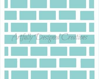 Brick Background Stencil