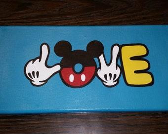 Hand Painted ---- Mickey Love