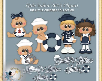 Baby Clipart, My Little Sailor, Nautical, Toddler