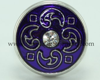 Purple Elements SNAP jewelry with crystals -  Snapdragon Jewelry, Noosa Chunk, Popper, Charm, Button