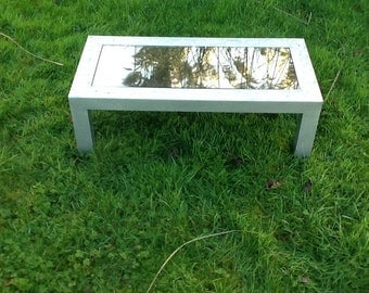 Steel and smoked glass coffee table